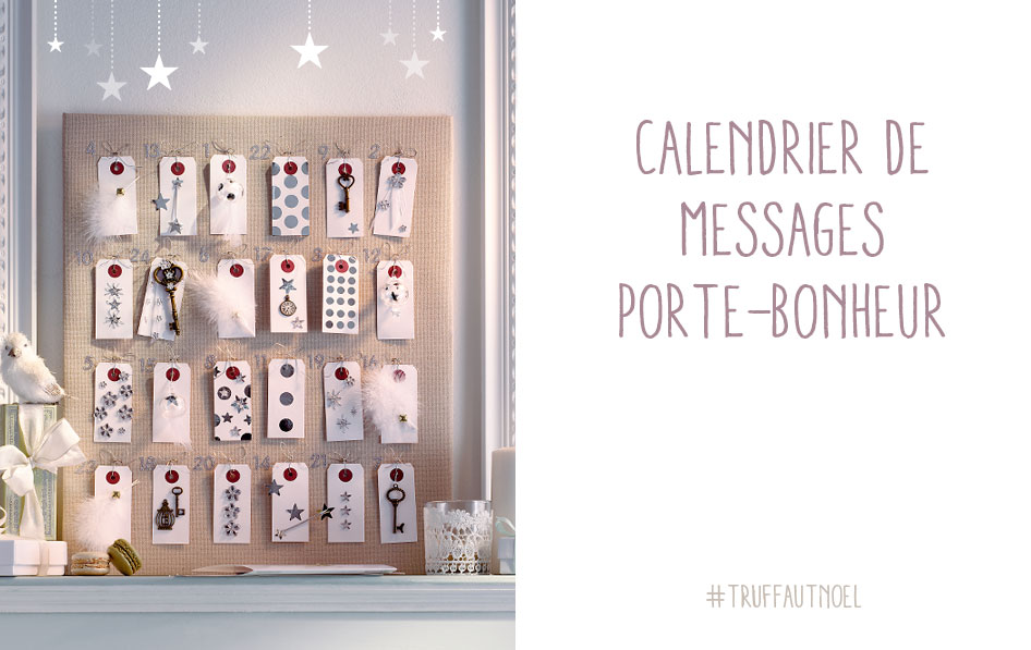 Calendrier avent messages porte bonheur carnet d id es - Idees remplir calendrier avent adulte ...