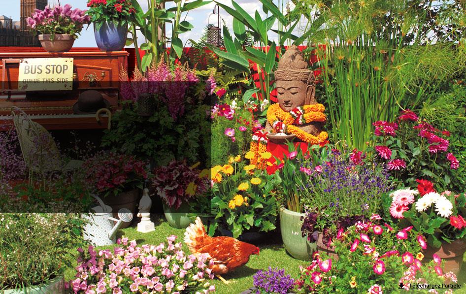 Jardin anglais en terrasse carnet d id es jardinerie for Terrasse jardin anglais