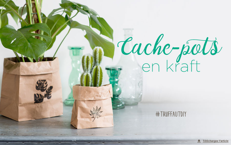 diy cache pot kraft carnet d 39 id es jardinerie truffaut v nement jardinerie truffaut. Black Bedroom Furniture Sets. Home Design Ideas